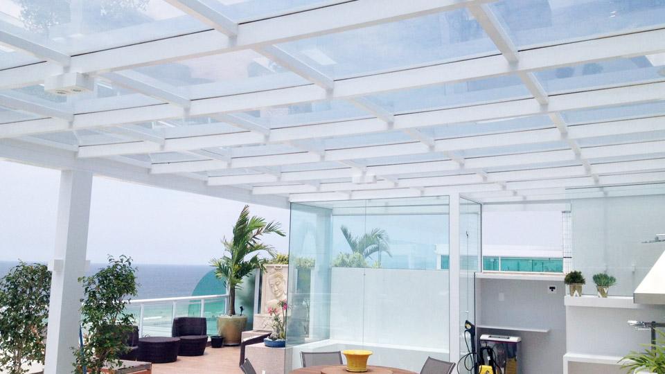 vantagens do teto de vidro